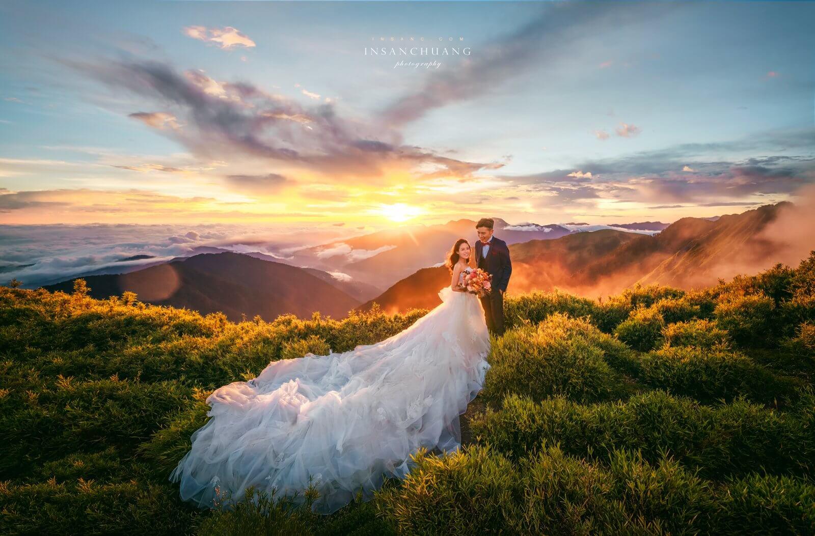 婚攝英聖-合歡山婚紗-主峰夕陽雲海婚紗