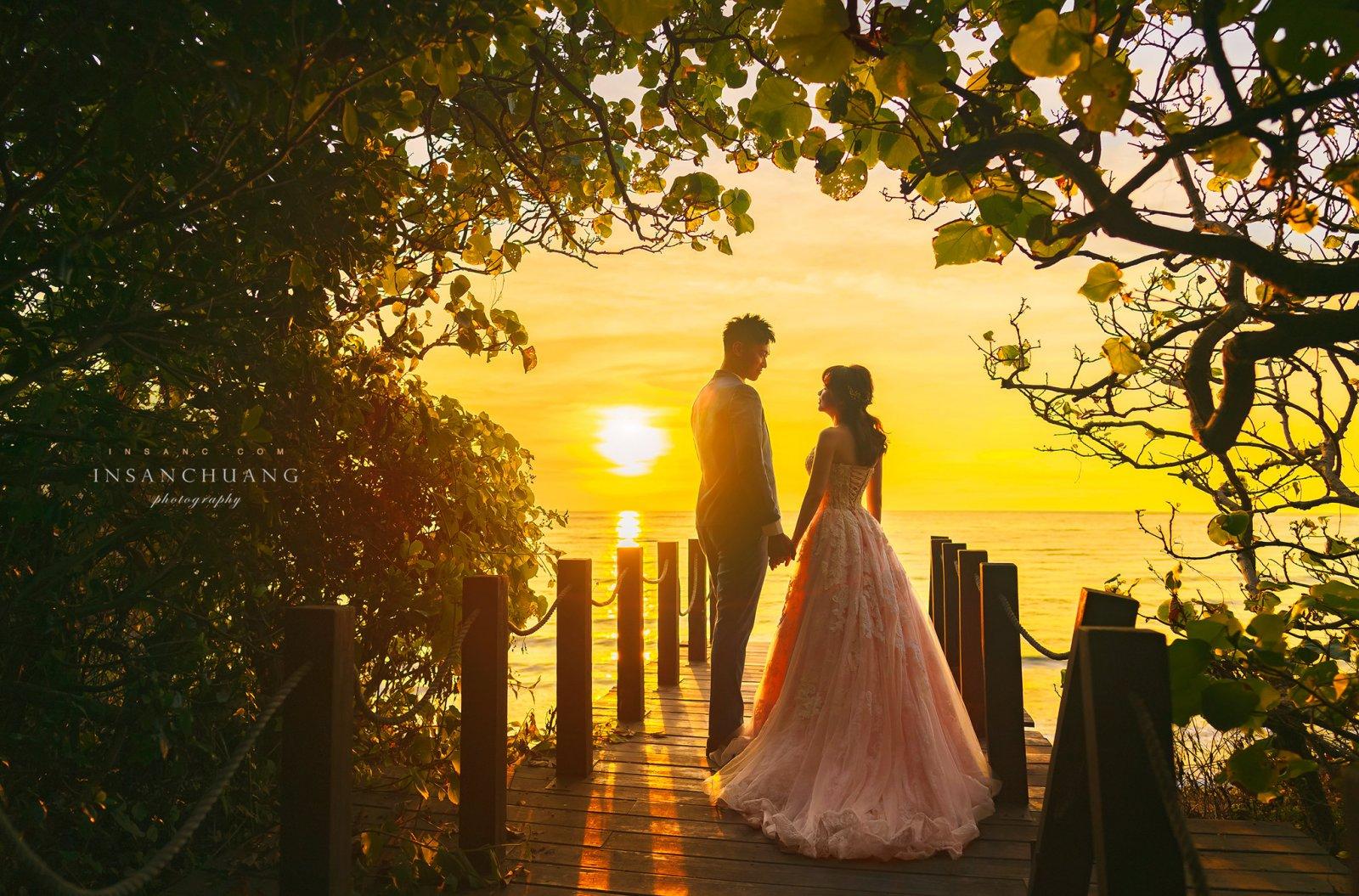 婚攝英聖-淡水莊園洲子灣婚紗黃昏景