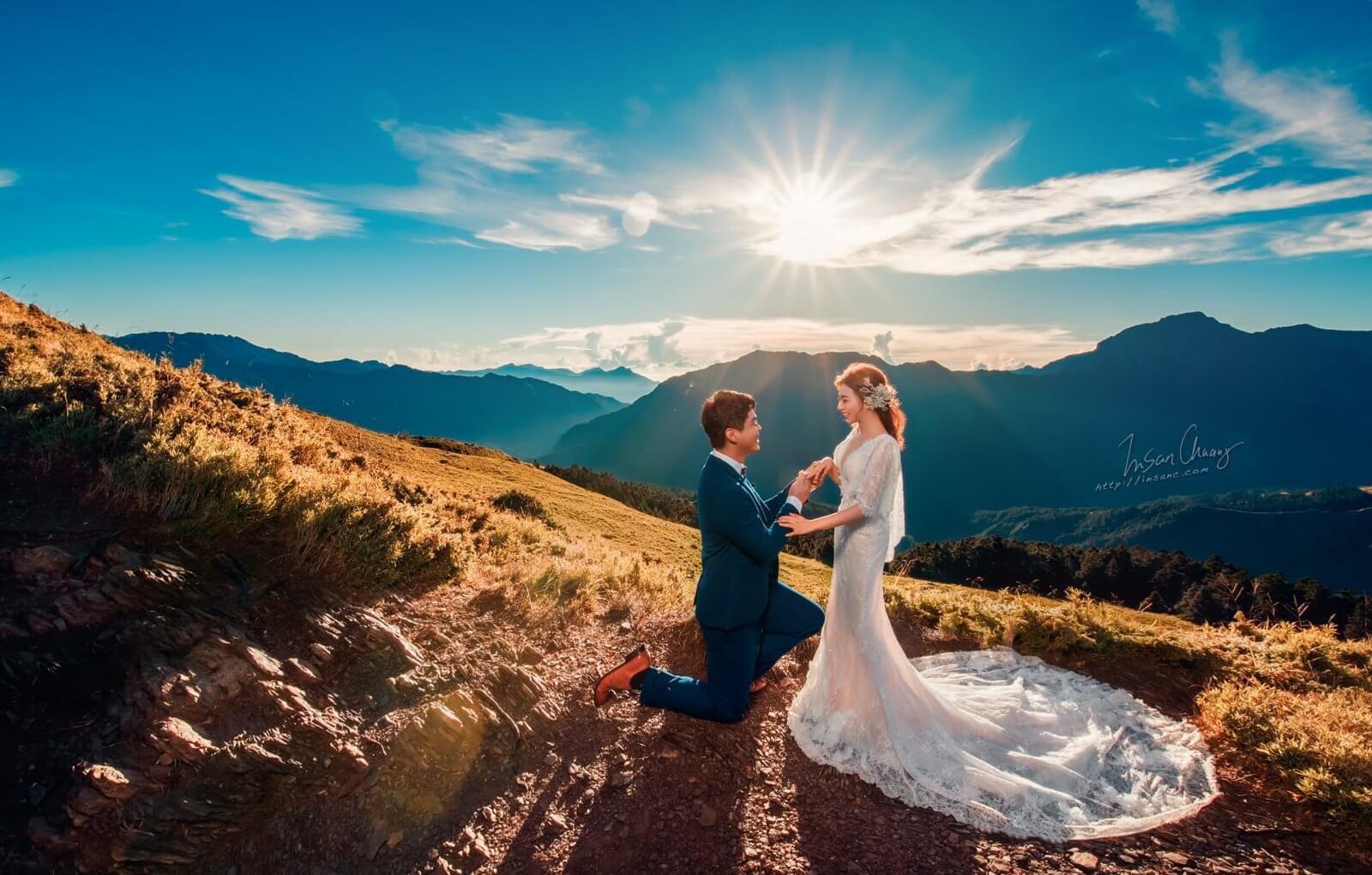 婚攝英聖_高山婚紗求婚石門山高海拔日出