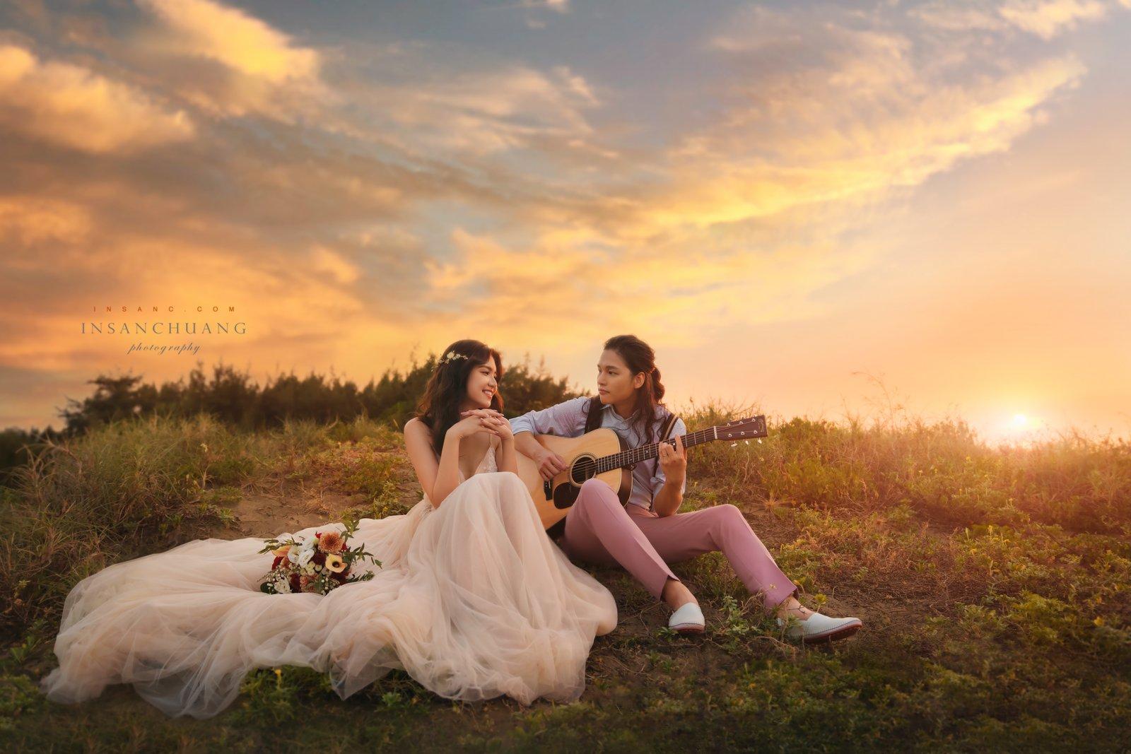 婚攝英聖-海邊夕陽婚紗
